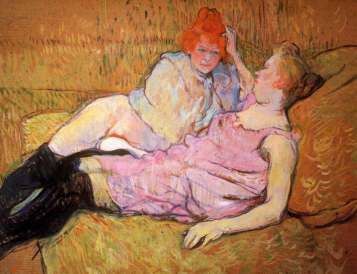 "Анри де Тулуз-Лотрек (Henri de Toulouse-Lautrec), ""The Sofa Sun"""