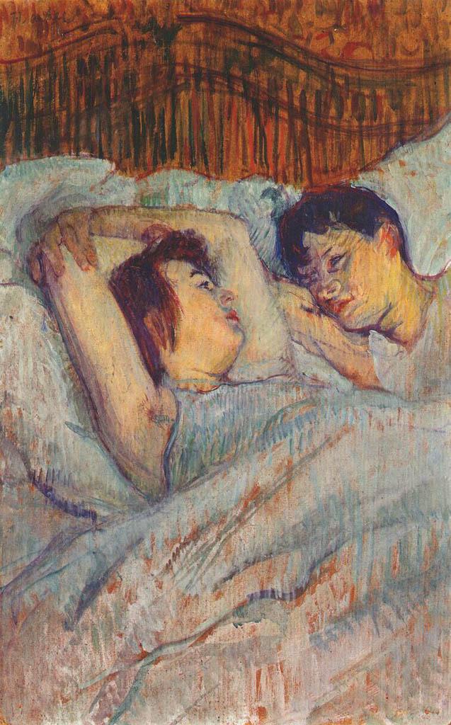 "Анри де Тулуз-Лотрек (Henri de Toulouse-Lautrec), ""In Bed (2)"""
