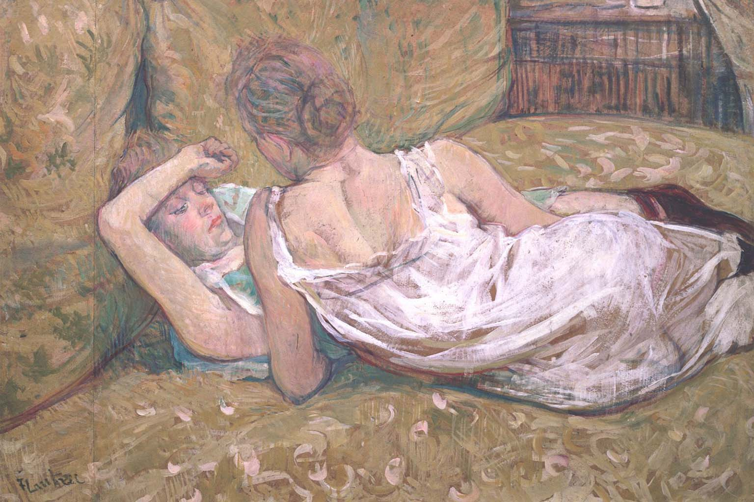 "Анри де Тулуз-Лотрек (Henri de Toulouse-Lautrec), ""Two Friends"""