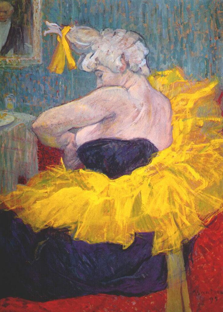 """Анри де Тулуз-Лотрек (Henri de Toulouse-Lautrec), """"The Clownesse Cha-U-Kao At The Moulin Rouge"""""""