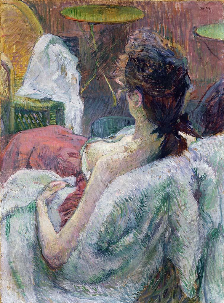 """Анри де Тулуз-Лотрек (Henri de Toulouse-Lautrec), """"Отдыхающая модель"""""""