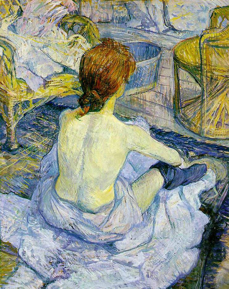 "Анри де Тулуз-Лотрек (Henri de Toulouse-Lautrec), ""The Toilette"""