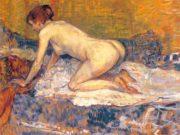 """Анри де Тулуз-Лотрек (Henri de Toulouse-Lautrec), """"Рыжеволосая женщина на коленях"""""""