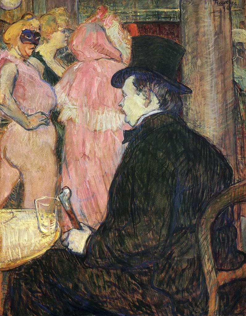 "Анри де Тулуз-Лотрек (Henri de Toulouse-Lautrec), ""Максим Детома"""