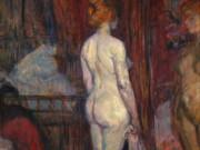 "Анри де Тулуз-Лотрек (Henri de Toulouse-Lautrec), ""Женщина перед зеркалом"""