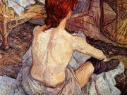 "Анри де Тулуз-Лотрек (Henri de Toulouse-Lautrec), ""After bathing Sun"""
