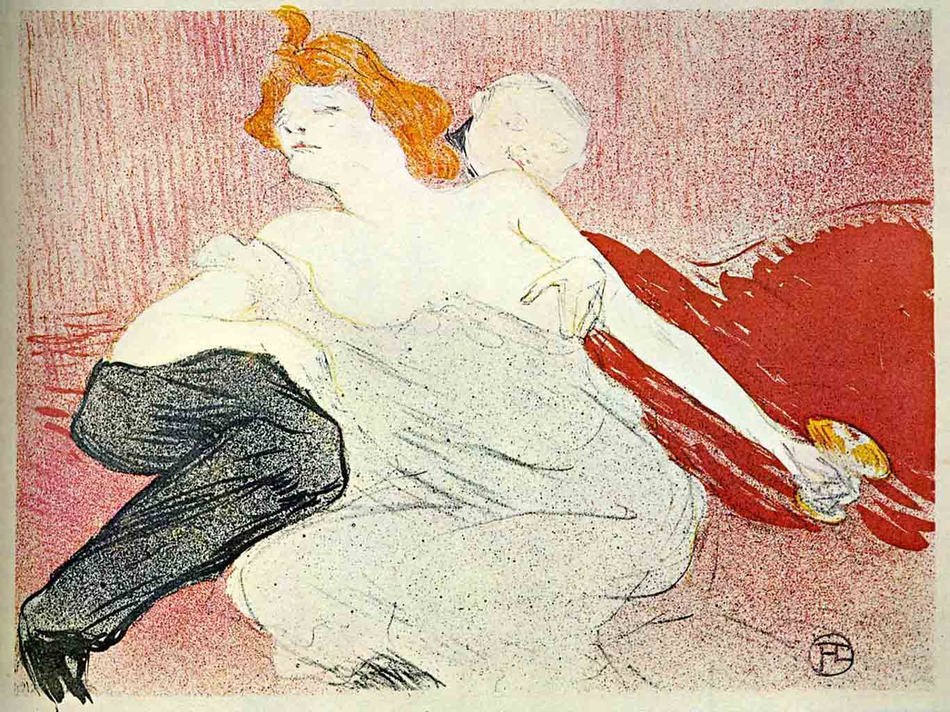 "Анри де Тулуз-Лотрек (Henri de Toulouse-Lautrec), ""Без названия - 30"""