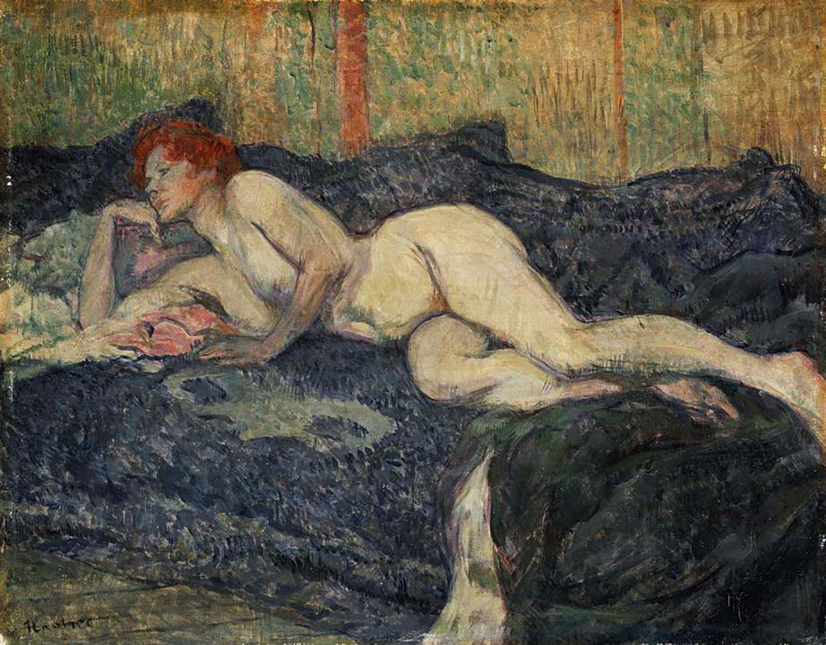 "Анри де Тулуз-Лотрек (Henri de Toulouse-Lautrec), ""Reclining Nude"""