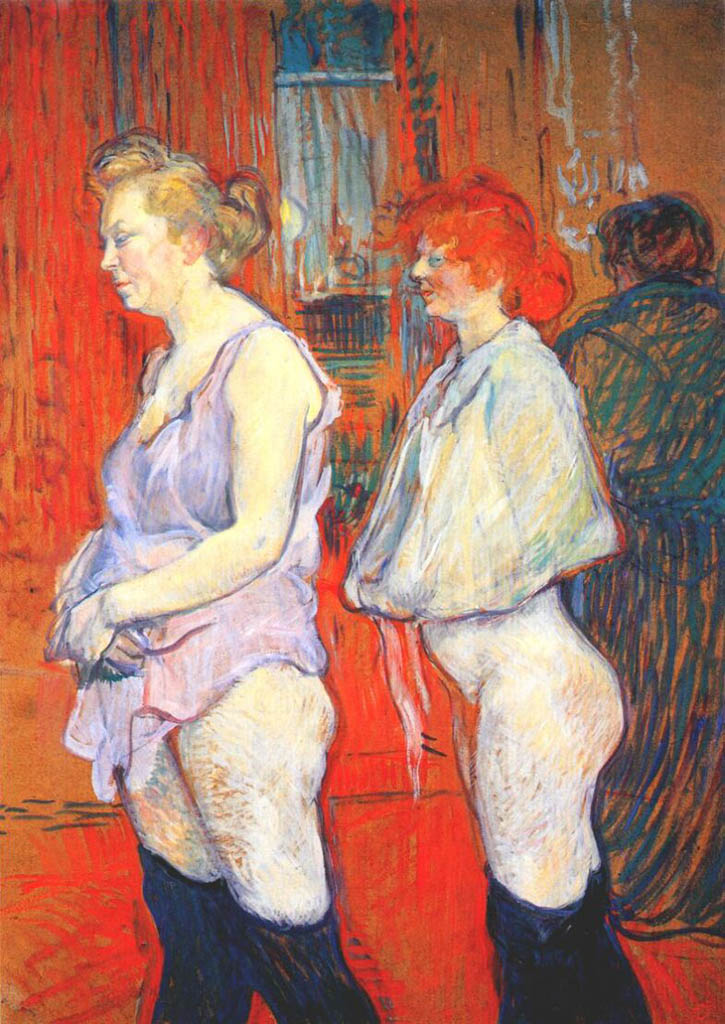 "Анри де Тулуз-Лотрек (Henri de Toulouse-Lautrec), ""The Medical Inspection"""