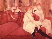 "Анри де Тулуз-Лотрек (Henri de Toulouse-Lautrec), ""In The Salon at the Rue des Moulins"""