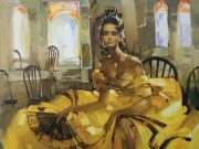 "Инна Цукахина (Inna Tsukakhina) ""Танцовщица в желтом | Golden dancer"""