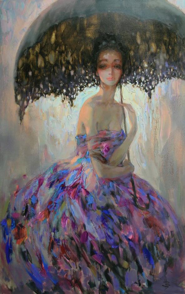 "Инна Цукахина (Inna Tsukakhina) ""Дама с зонтом | Lady with umbrella"""