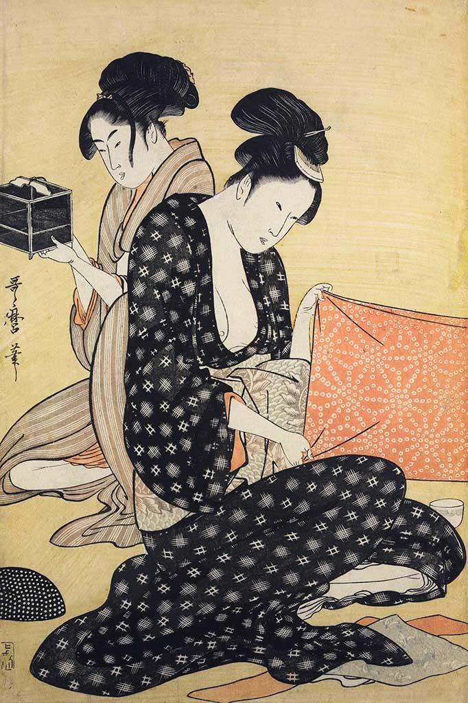 """Китагава Утамаро (Kitagawa Utamaro) """"Hari-shigoto"""""""