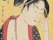 "Китагава Утамаро (Kitagawa Utamaro) ""Ukiyo-e print from the series Hokkoku Goshiki-zumi"""