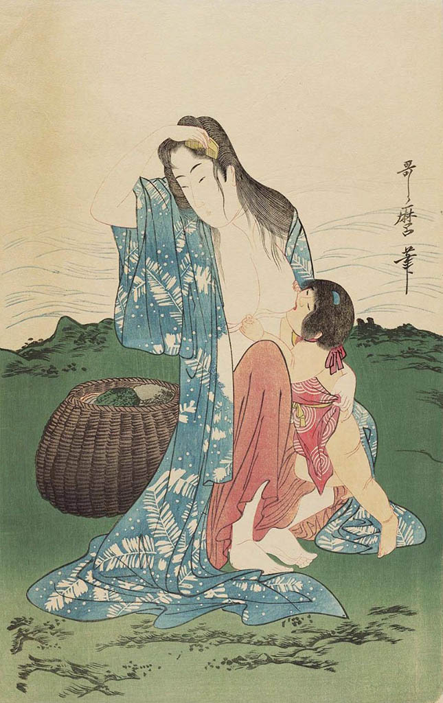 "Китагава Утамаро (Kitagawa Utamaro) ""Fisherwomen on the seashore"""