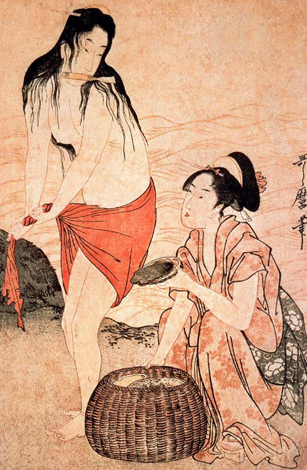 "Китагава Утамаро (Kitagawa Utamaro) ""Divers for pearls (2)"""