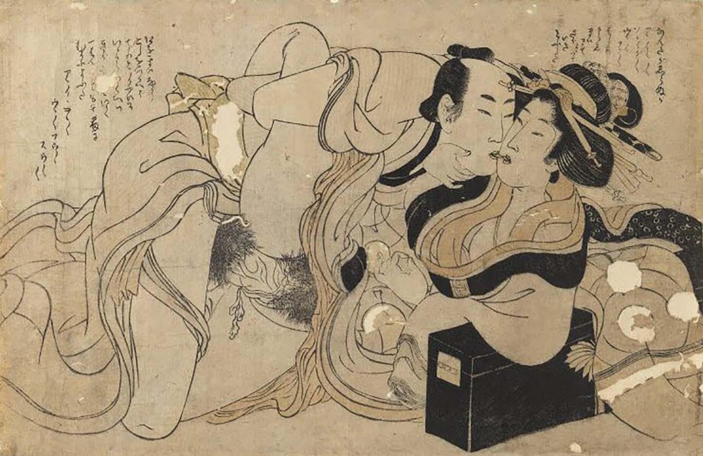 "Китагава Утамаро (Kitagawa Utamaro) ""Amorous Couple"""