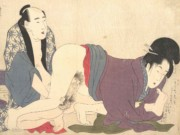 "Китагава Утамаро (Kitagawa Utamaro) ""Colour-Shunga (5) (Prelude of desire)"""