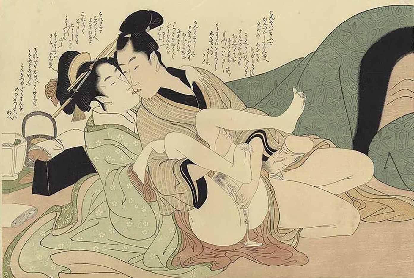 "Китагава Утамаро (Kitagawa Utamaro) ""Prelude to Desire #B"""