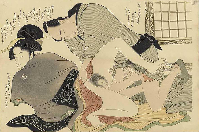 "Китагава Утамаро (Kitagawa Utamaro) ""Prelude to Desire #D"""