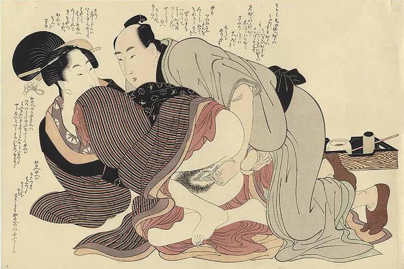 "Китагава Утамаро (Kitagawa Utamaro) ""Prelude to Desire #F"""