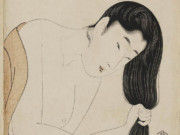 "Китагава Утамаро (Kitagawa Utamaro) ""Combing the Hair"""