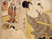 """Китагава Утамаро (Kitagawa Utamaro) """"Serie del magazzino dei venditori leali, VII atto"""""""
