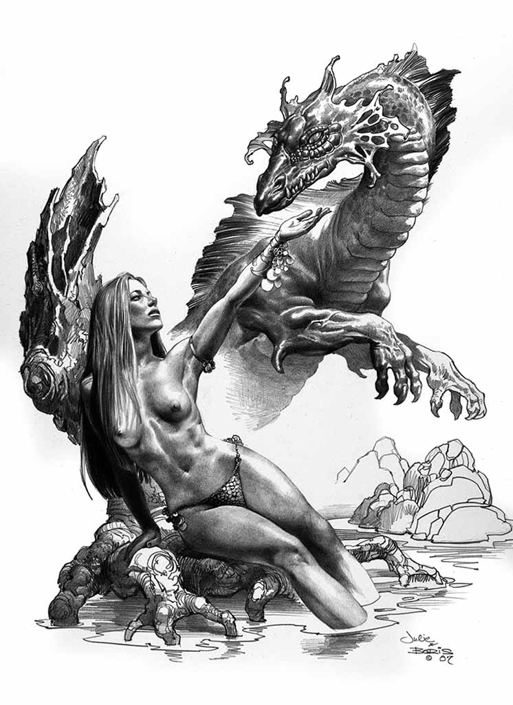 "Борис Вальехо и Джули Белл (Boris Vallejo and Julie Bell) ""Ladylove"" (Drawing)"