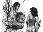 "Борис Вальехо и Джули Белл (Boris Vallejo and Julie Bell) ""Jungle Talk"" (Drawing)"