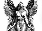 "Борис Вальехо (Boris Vallejo) ""Midnight Angel"" (Drawing)"