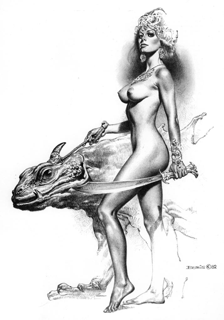 "Борис Вальехо (Boris Vallejo) ""Searchers"" (Drawing)"