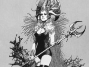 "Борис Вальехо (Boris Vallejo) ""Witch"" (Drawing)"