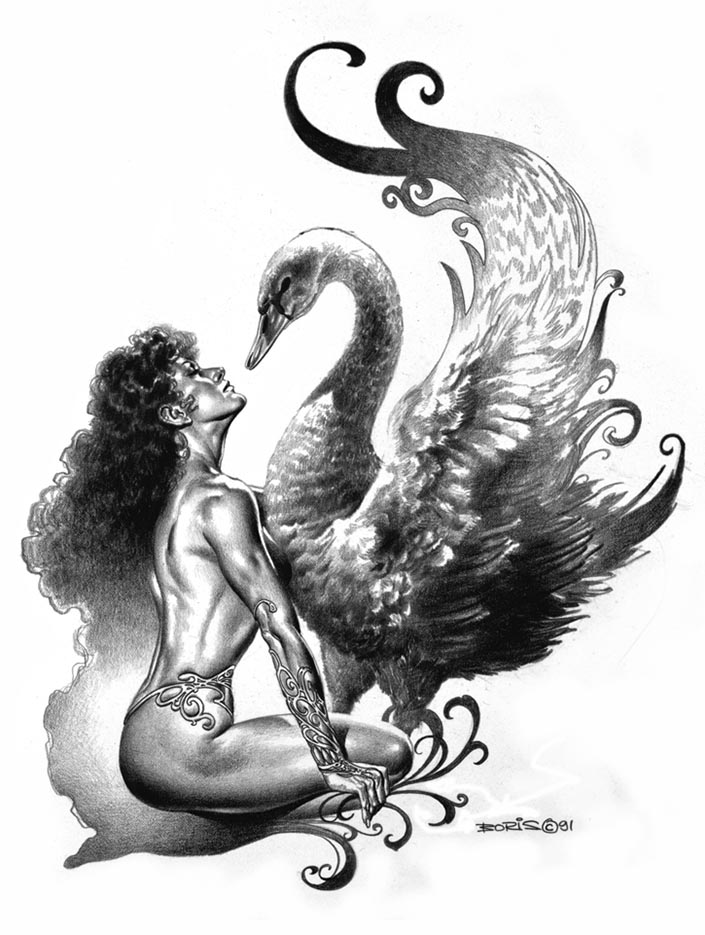 "Борис Вальехо (Boris Vallejo) ""Leda"" (Drawing)"
