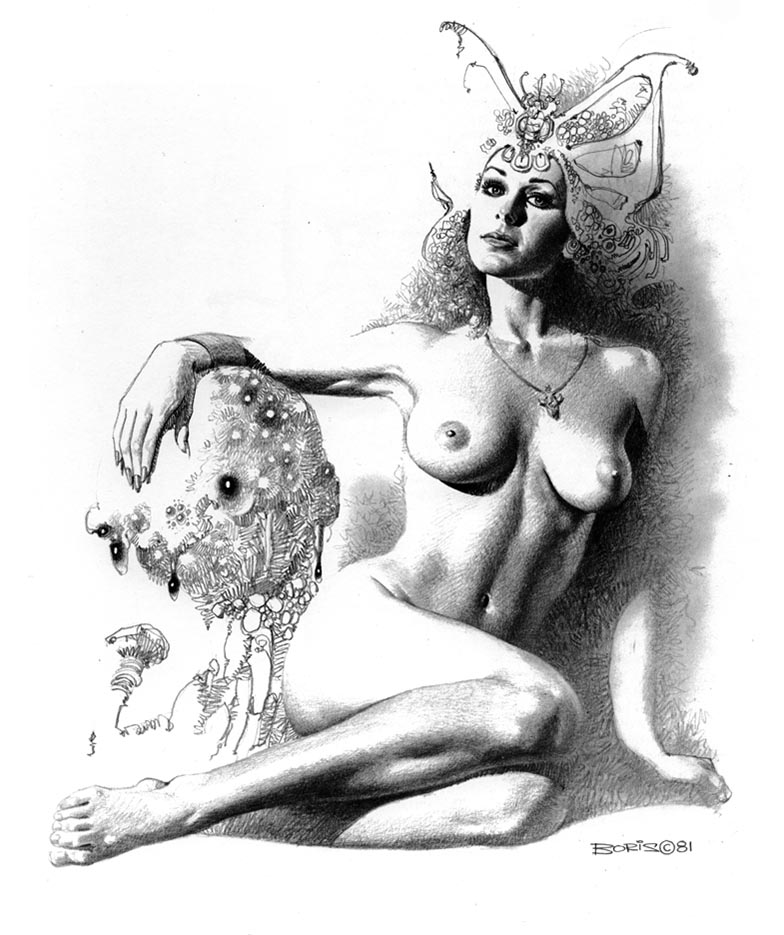 "Борис Вальехо (Boris Vallejo) ""Queen Of His Heart"" (Drawing)"