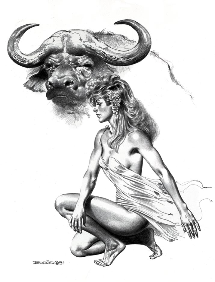 "Борис Вальехо (Boris Vallejo) ""Ariadne"" (Drawing)"