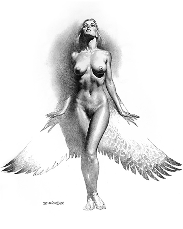 "Борис Вальехо (Boris Vallejo) ""Midnight Angel (2)"" (Drawing)"
