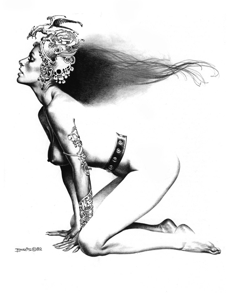 "Борис Вальехо (Boris Vallejo) ""As The Wind Blows"" (Drawing)"