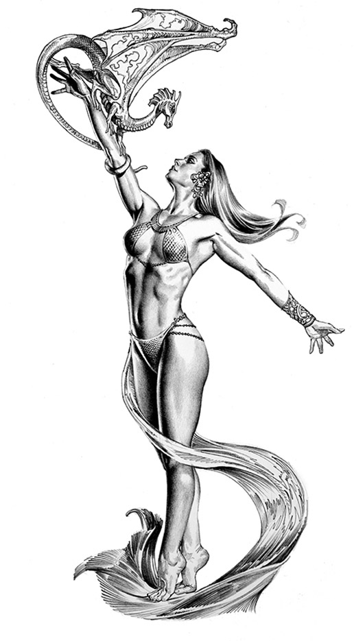 "Борис Вальехо (Boris Vallejo) ""Messenger Of Peace"" (Drawing)"