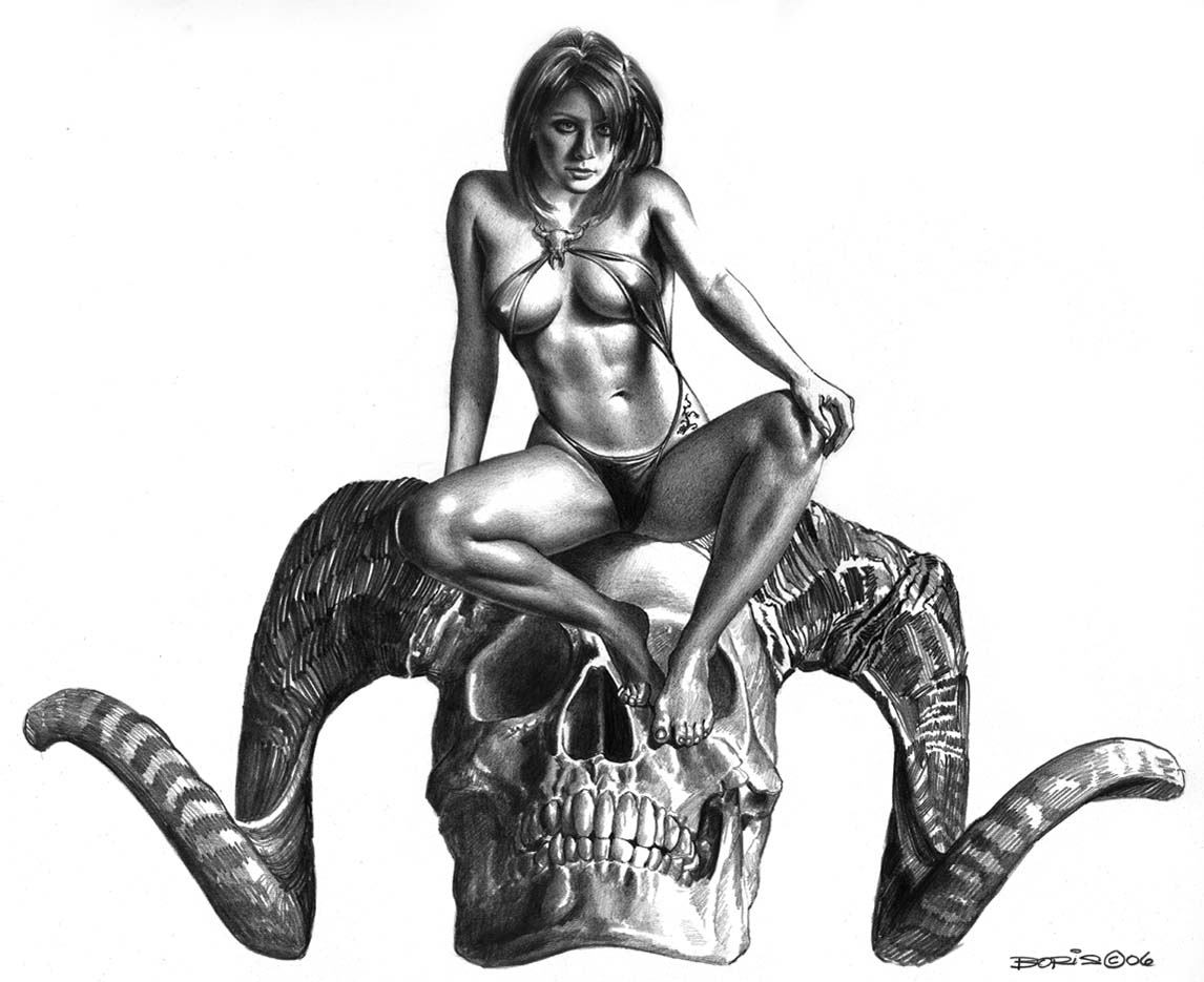 "Борис Вальехо (Boris Vallejo) ""Perra"" (Drawing)"