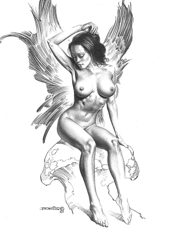 "Борис Вальехо (Boris Vallejo) ""Resting"" (Drawing)"