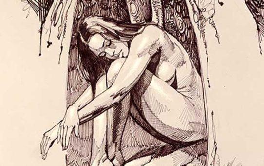 "Борис Вальехо (Boris Vallejo) ""Wings Of The Night"" (Drawing)"