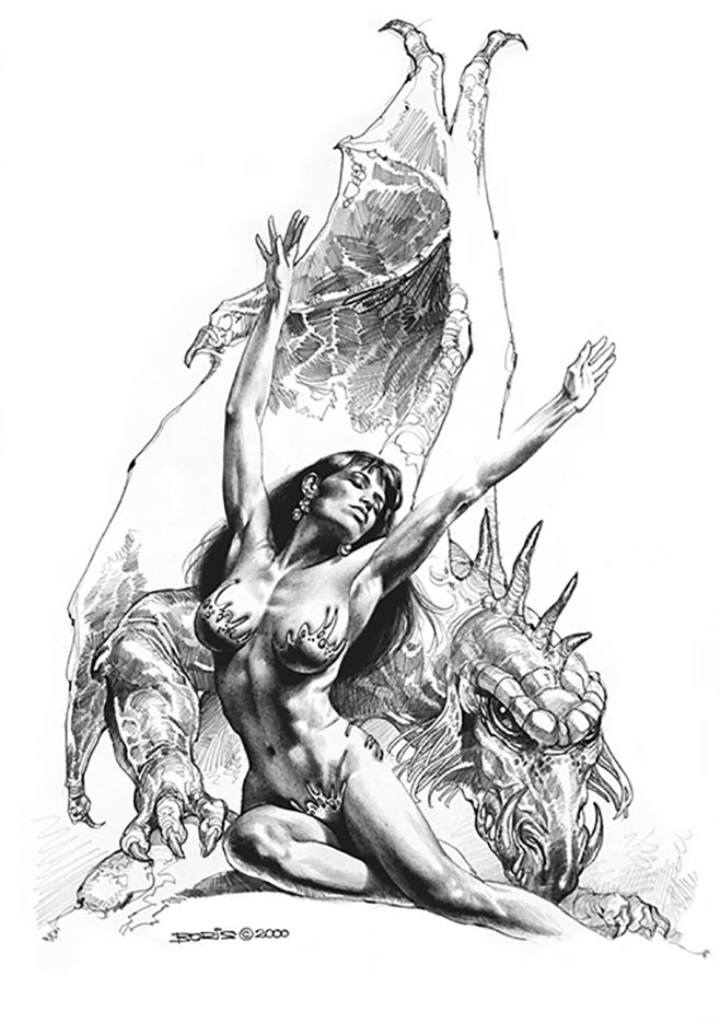 "Борис Вальехо (Boris Vallejo) ""Free!"" (Drawing)"