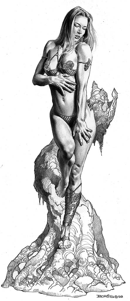 "Борис Вальехо (Boris Vallejo) ""Desire II"" (Drawing)"