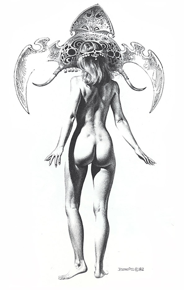 "Борис Вальехо (Boris Vallejo) ""Head Ornament"" (Drawing)"
