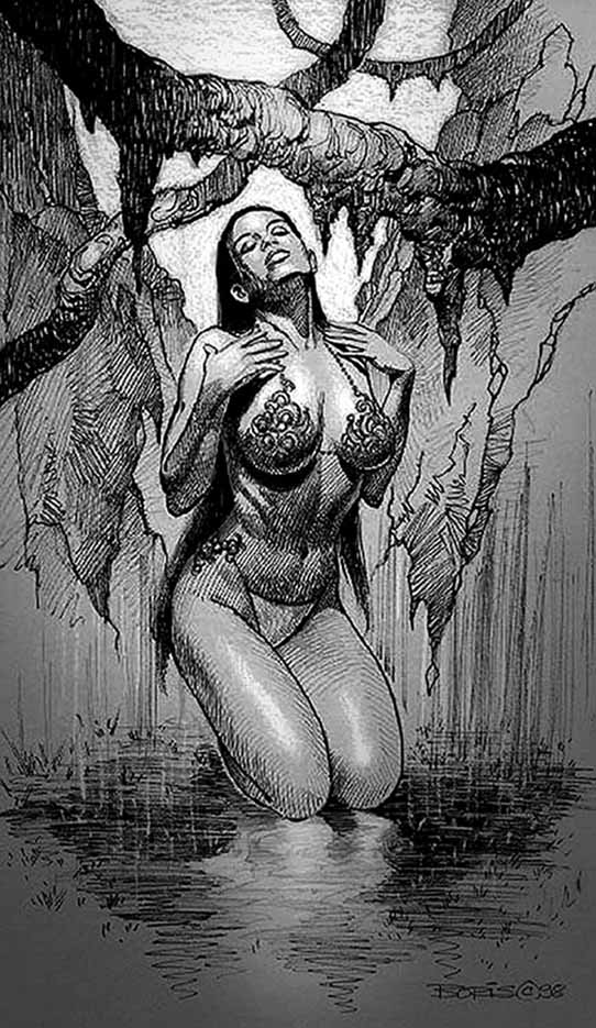 "Борис Вальехо (Boris Vallejo) ""Mistress Of The Rain"" (Drawing)"