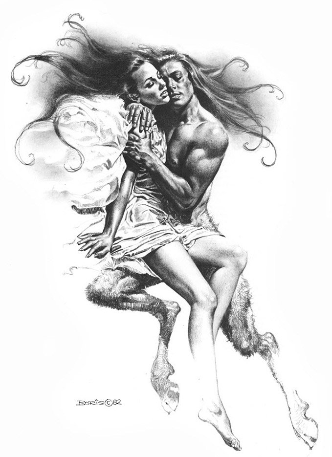 "Борис Вальехо (Boris Vallejo) ""Rapture"" (Drawing)"