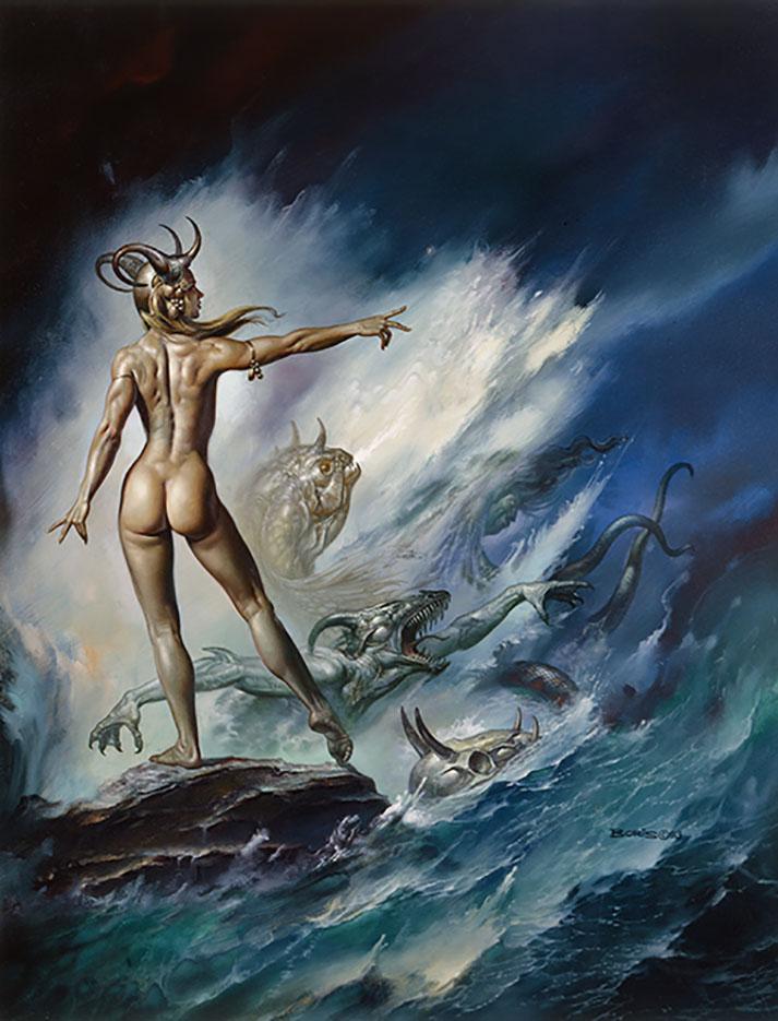 "Борис Вальехо (Boris Vallejo), ""Sea Creatures"""