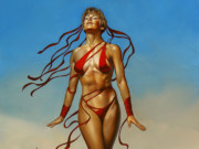 "Борис Вальехо (Boris Vallejo), ""Siren Of The Sand"""