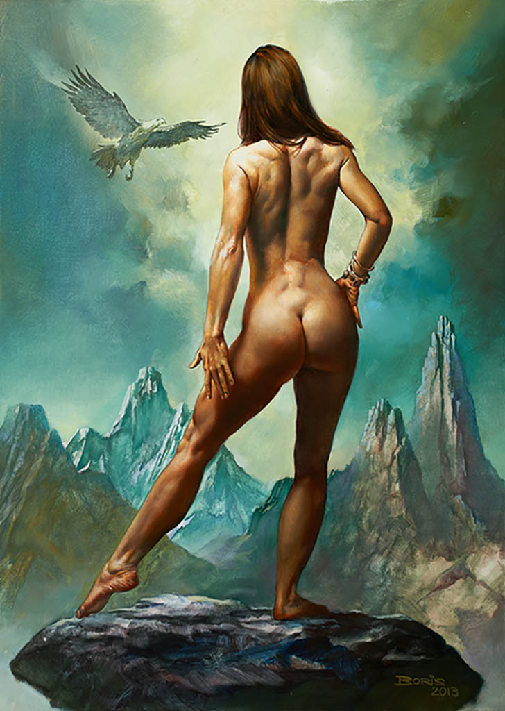 Nude female gods art
