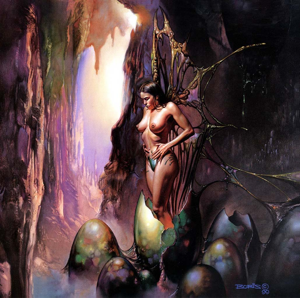"Борис Вальехо (Boris Vallejo), ""Dorusre birth"""